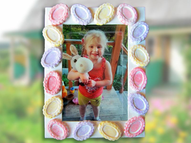 Декор рамки для детской фотографии